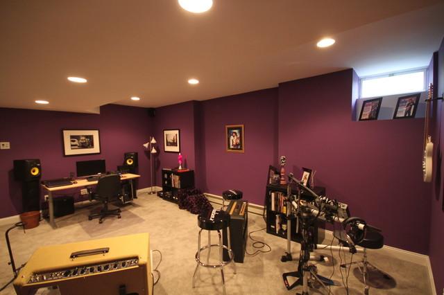 music studio contemporary basement other metro by joseph