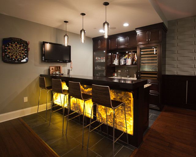 Nantucket style - Modern home bar ideas ...