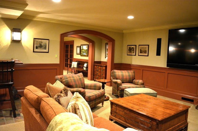 New old farmhouse traditional basement dc metro by for Farmhouse basement