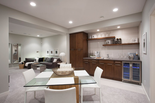 Contemporary Basement by Edmonton Home Builders Sabal Homes