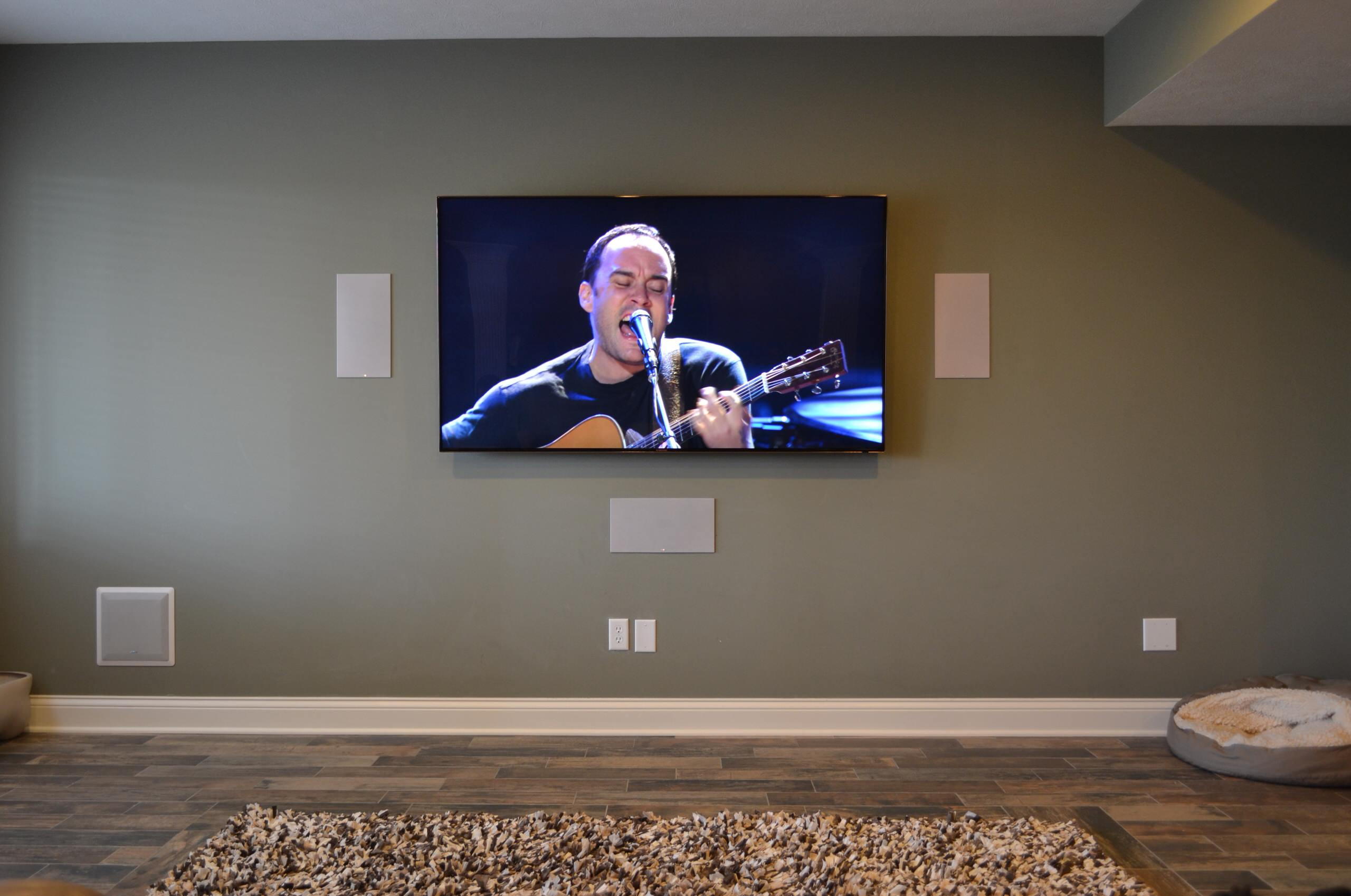 "Noblesville, IN - 75"" Mounted TV Panel & In-Wall Surround Sound"