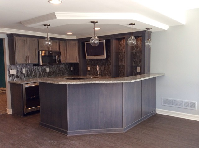 northville michigan basement remodel traditional basement