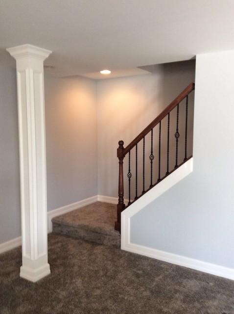 northville michigan basement remodel traditional