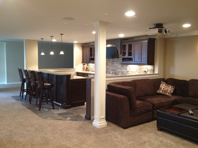 novi finished basement traditional basement detroit by