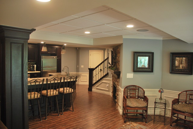 Oconnor Basement traditional-basement