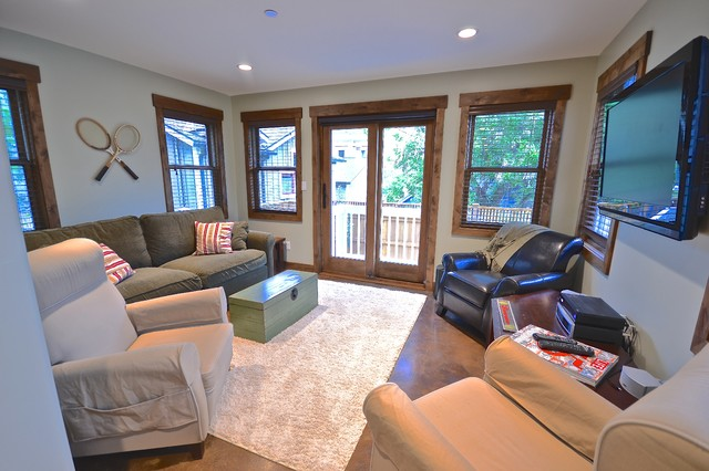 Old Town Park City Home Renovation eclectic-basement