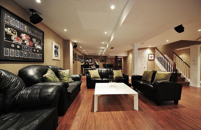 Open concept basement ideas for Nice basements
