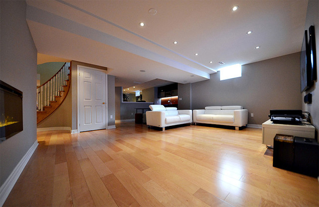 attic finishing design ideas - Open Concept Basement Ideas Basement Toronto by