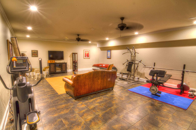 Palestine Palace Traditional Basement Dallas By Campbell Custom Homes
