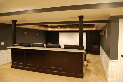 Paint color for theater bar/fireplace cabinets.
