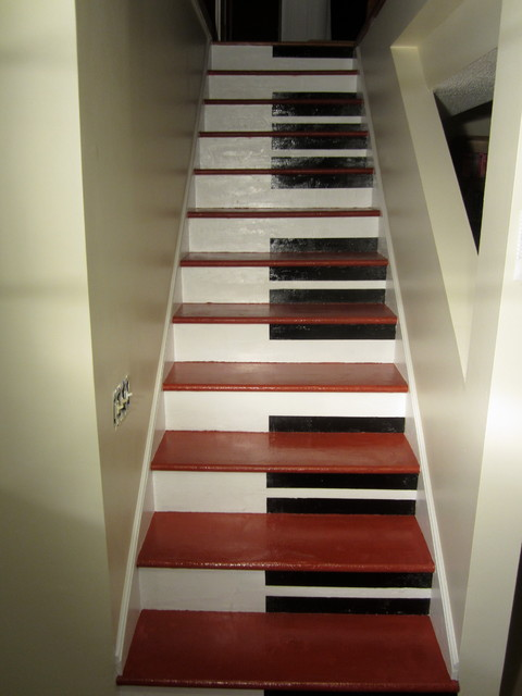 Piano Stairs Modern Basement Minneapolis By