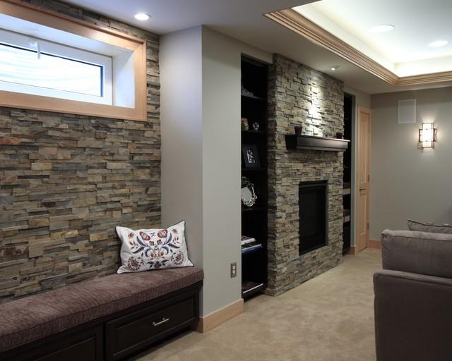 Platte Park Basement traditional-basement