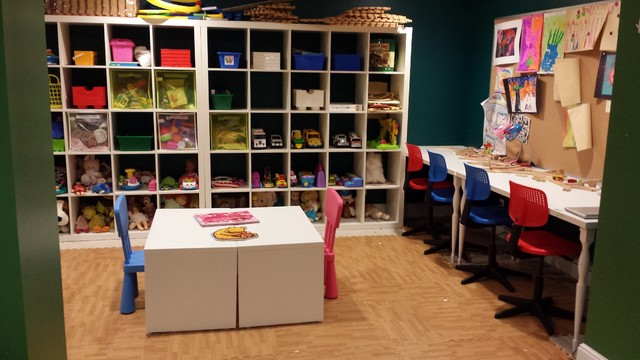 Playroom Organizing by Organize Don't Agonize basement