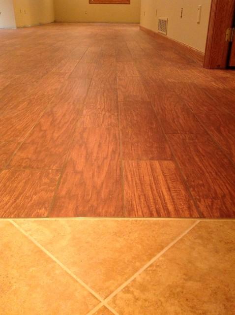 porcelain floor tile simulated wood flooring basement On simulated wood flooring