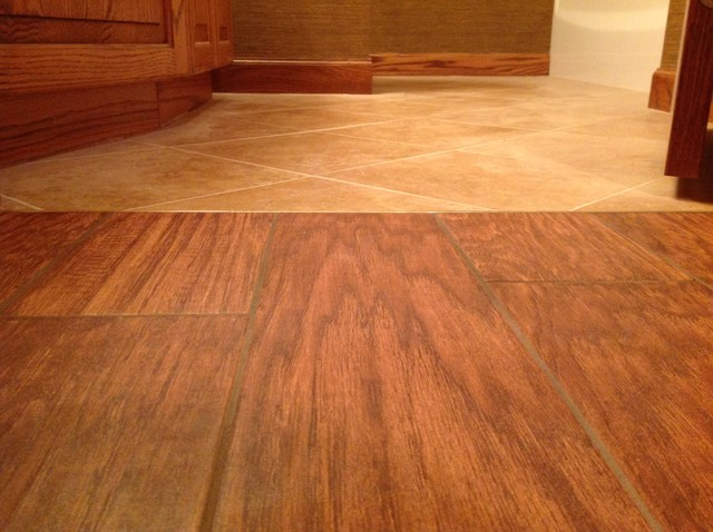 Porcelain Floor Tile Simulated Wood Flooring Basement Other