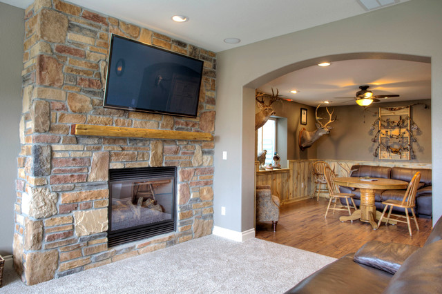Rustic finished basement ideas home decor for Rustic finished basement