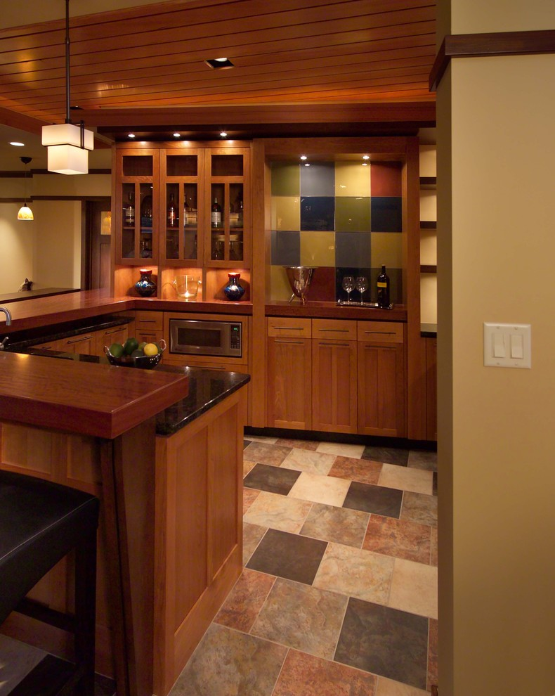 Inspiration for a modern basement remodel in Minneapolis