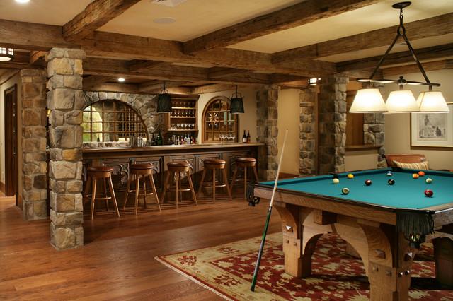 Princeton Rustic Basement New York By J Costantin - Princeton pool table