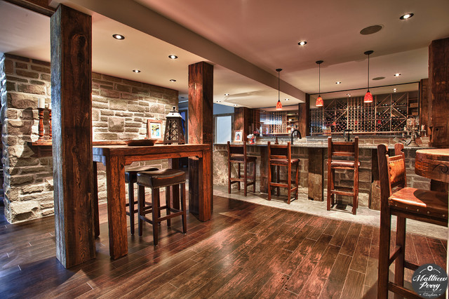 Princiotta Custom Homes Rustic Basement Ottawa