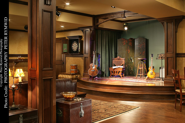 Pub Stage Traditional Basement New York By Carisa