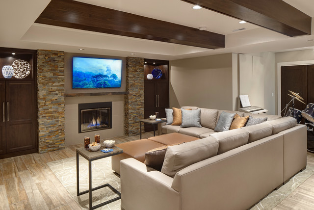 Rec Room Re Imagined Rustic Basement Chicago By