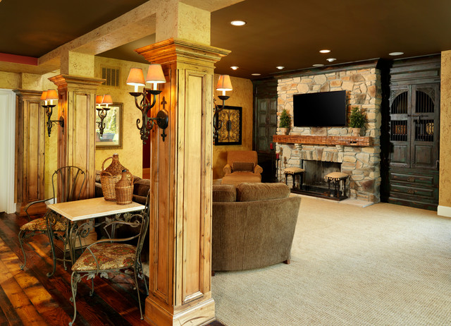 Reclaimed & Reused traditional-basement - Reclaimed & Reused - Traditional - Basement - Cincinnati - By