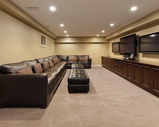 Long narrow home design ideas pictures remodel and decor for Long narrow basement design solution