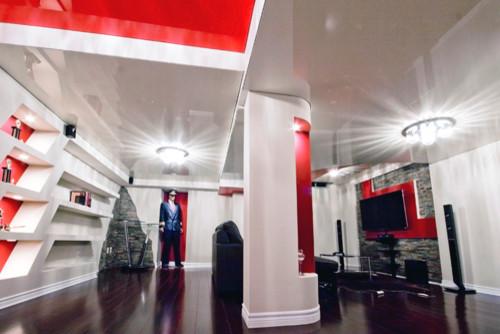 Residential basement modern-basement