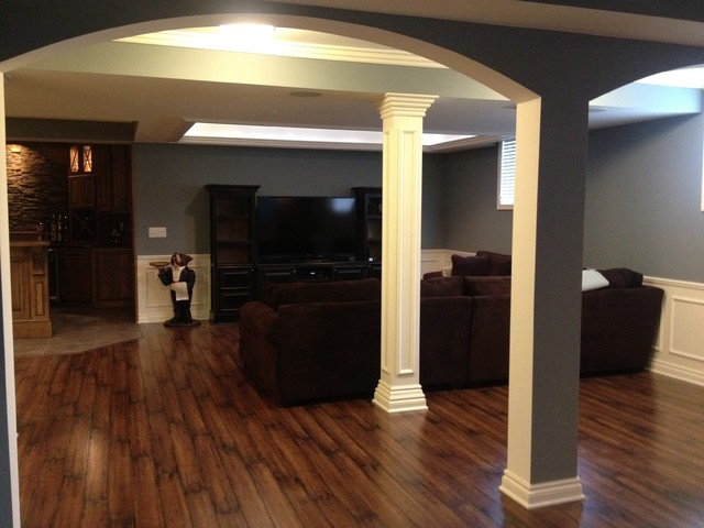 Rochester Hills Basement Traditional Basement