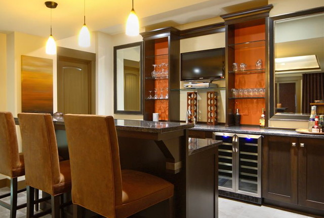 Rock Point Mud Rooms, Bookcases, Bars eclectic-basement