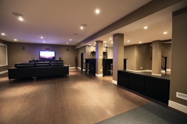 rothenberg basement development modern basement calgary by