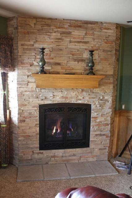 Roxborough Basement Fireplace Traditional Basement