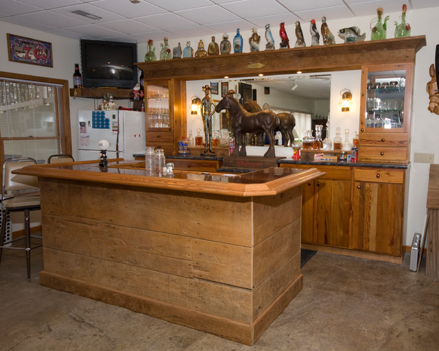 Wonderful Rustic Bar Traditional Basement St Louis By Cabinet Gallery