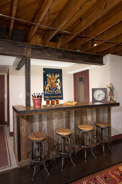 rustic basement bar rustic basement dc metro by