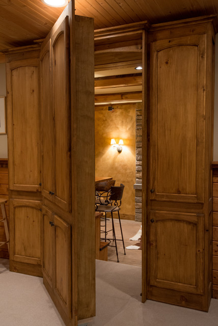 Refined Rustic - Rustic - Basement - cincinnati - by Michaelson Homes LLC