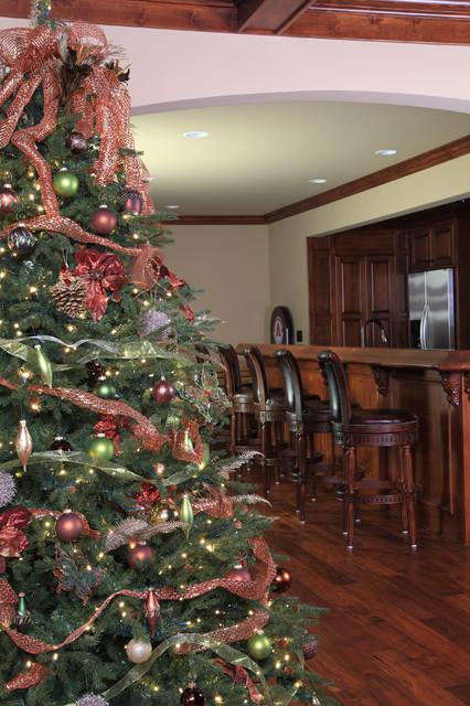 Rustic Christmas Trees Traditional Basement Atlanta
