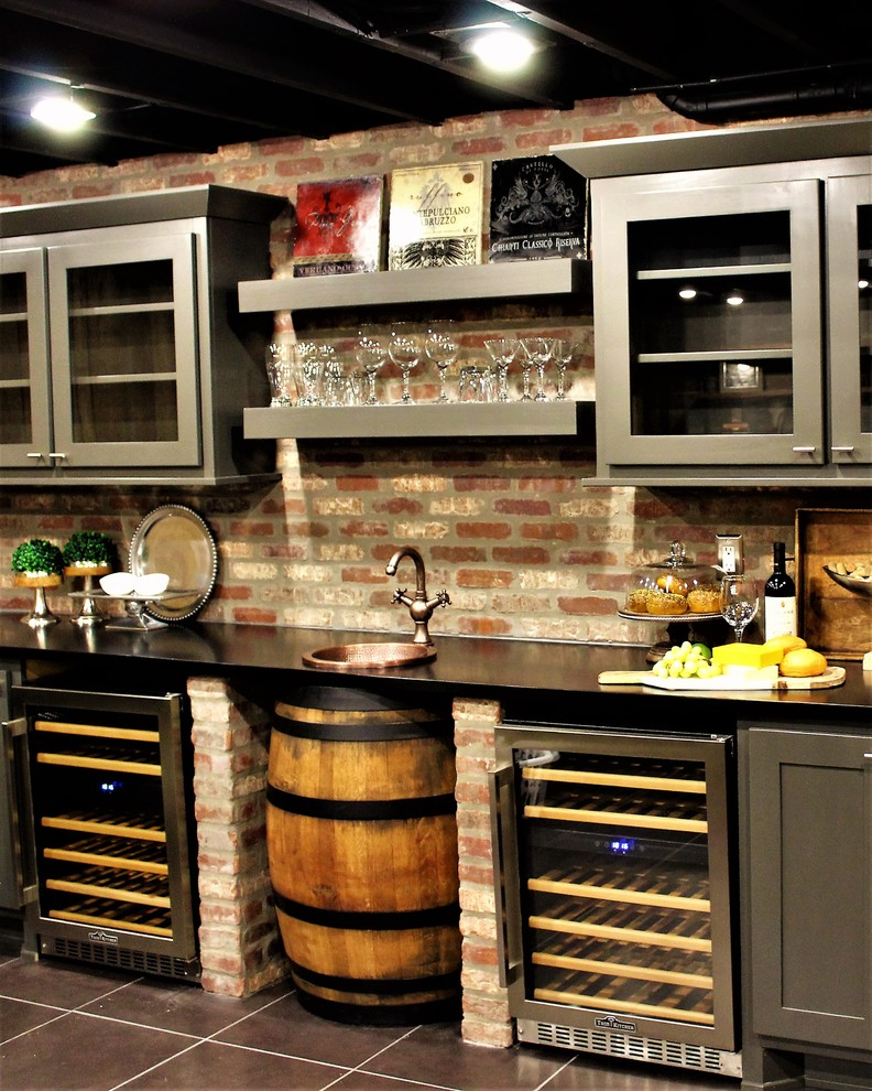 Rustic Man Cave Rustic Basement Other By Interiors By Design Houzz