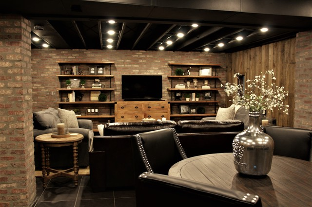 Rustic Man Cave Furniture : Rustic man cave basement other by interiors