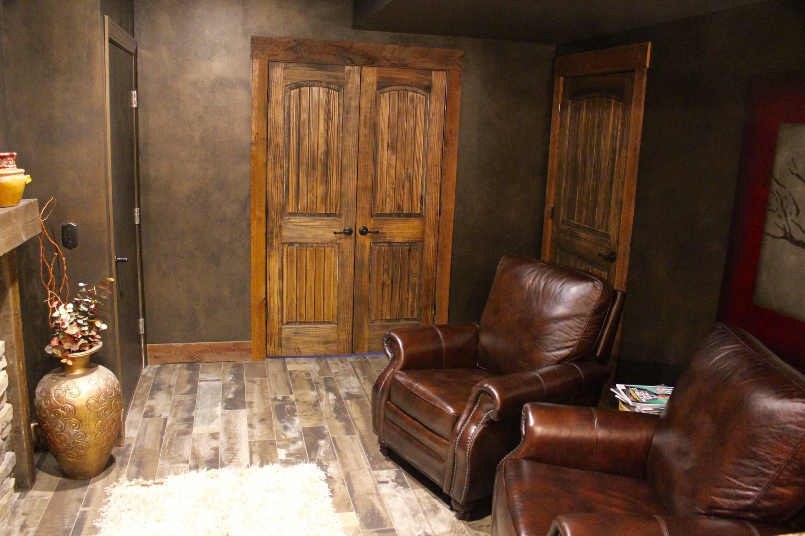 Rustic Theatre Room Renovation