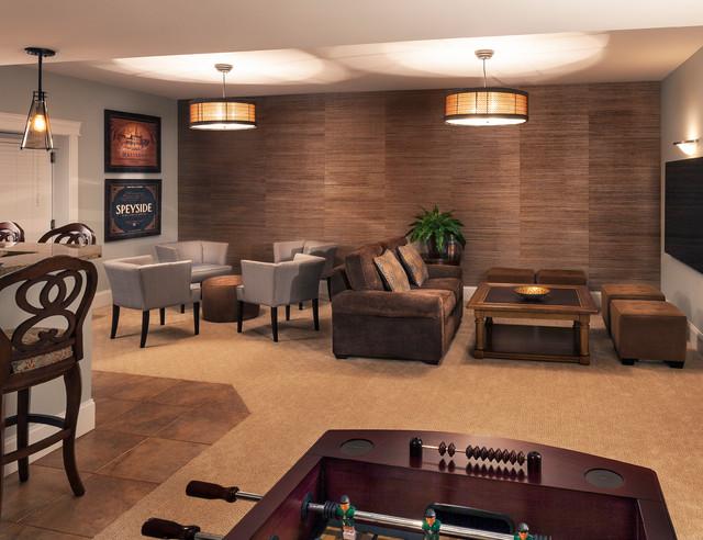 Inredning källare basement : Rustic Urban Lounge Basement - Rustic - Basement - Baltimore - by ...