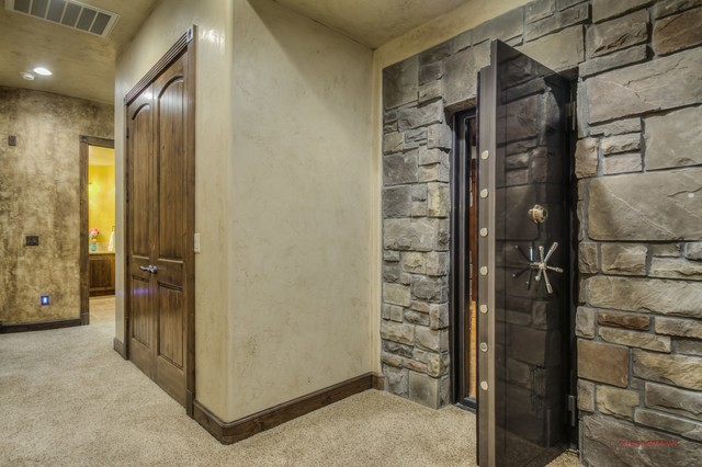 cheap garage gym ideas - Safe Room Traditional Basement other metro by St