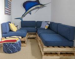 San Anselmo beach-style-basement
