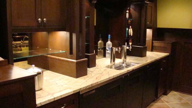 Sanctuary Bar Area Remodel Contemporary Basement