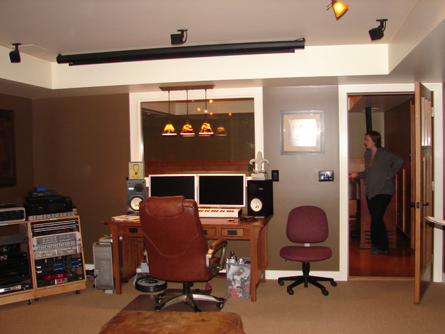Saratoga music studio home theatre traditional basement other metro by hinman construction - Home recording studio design ideas ...