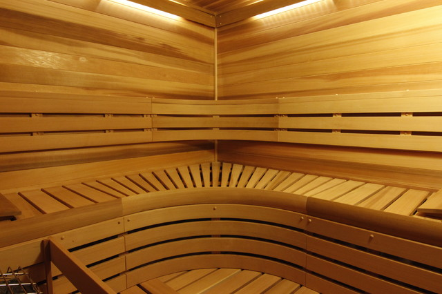 Sauna in new castle washington traditional basement for Building a sauna in the basement