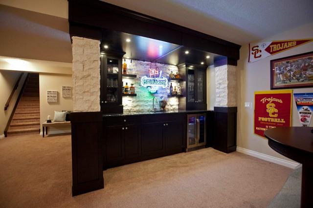 Schiffner Sports Bar - Contemporary - Basement - calgary - by Urban Abode