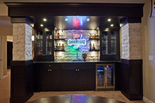 Schiffner Sports Bar Traditional Basement Calgary