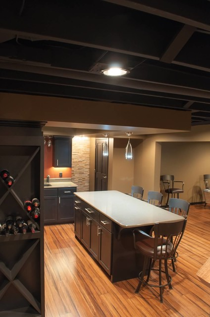 Schubbe Basement Remodel Traditional Basement