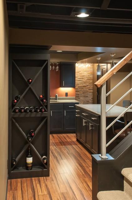 Schubbe Basement remodel traditional-basement