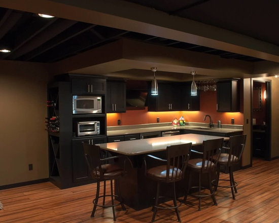Low basement ceilings basement design ideas pictures remodel and decor - Low ceiling basement ideas ...